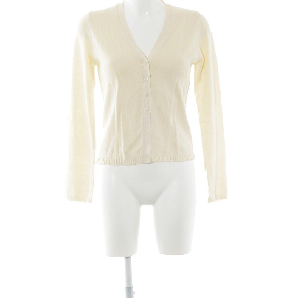 Dettagli su STREET ONE Cardigan in maglia giallo pallido stile casual Donna Taglia IT 42