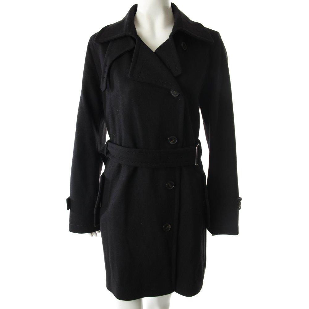 strenesse blue wollmantel schwarz damen gr de 38 mantel coat wool coat. Black Bedroom Furniture Sets. Home Design Ideas