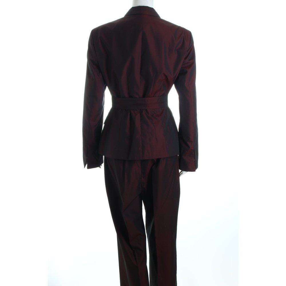 strenesse hosenanzug bordeauxrot extravaganter stil damen gr de 40 anzug suit ebay. Black Bedroom Furniture Sets. Home Design Ideas