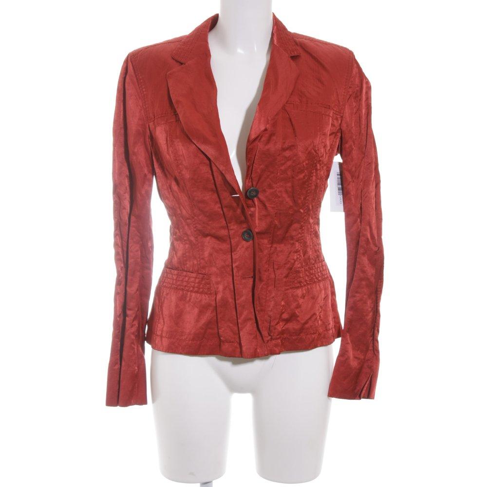 strenesse kurz blazer rot glanz optik damen gr de 38 short blazer ebay. Black Bedroom Furniture Sets. Home Design Ideas