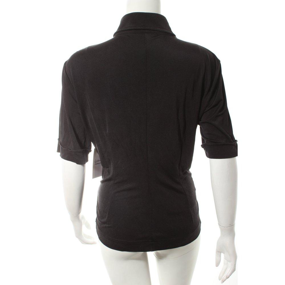 strenesse kurzarm bluse schwarz klassischer stil damen gr de 38 blouse ebay. Black Bedroom Furniture Sets. Home Design Ideas