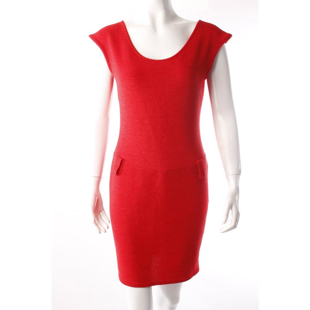stretch kleid in rot damen gr de 38 dress ebay. Black Bedroom Furniture Sets. Home Design Ideas