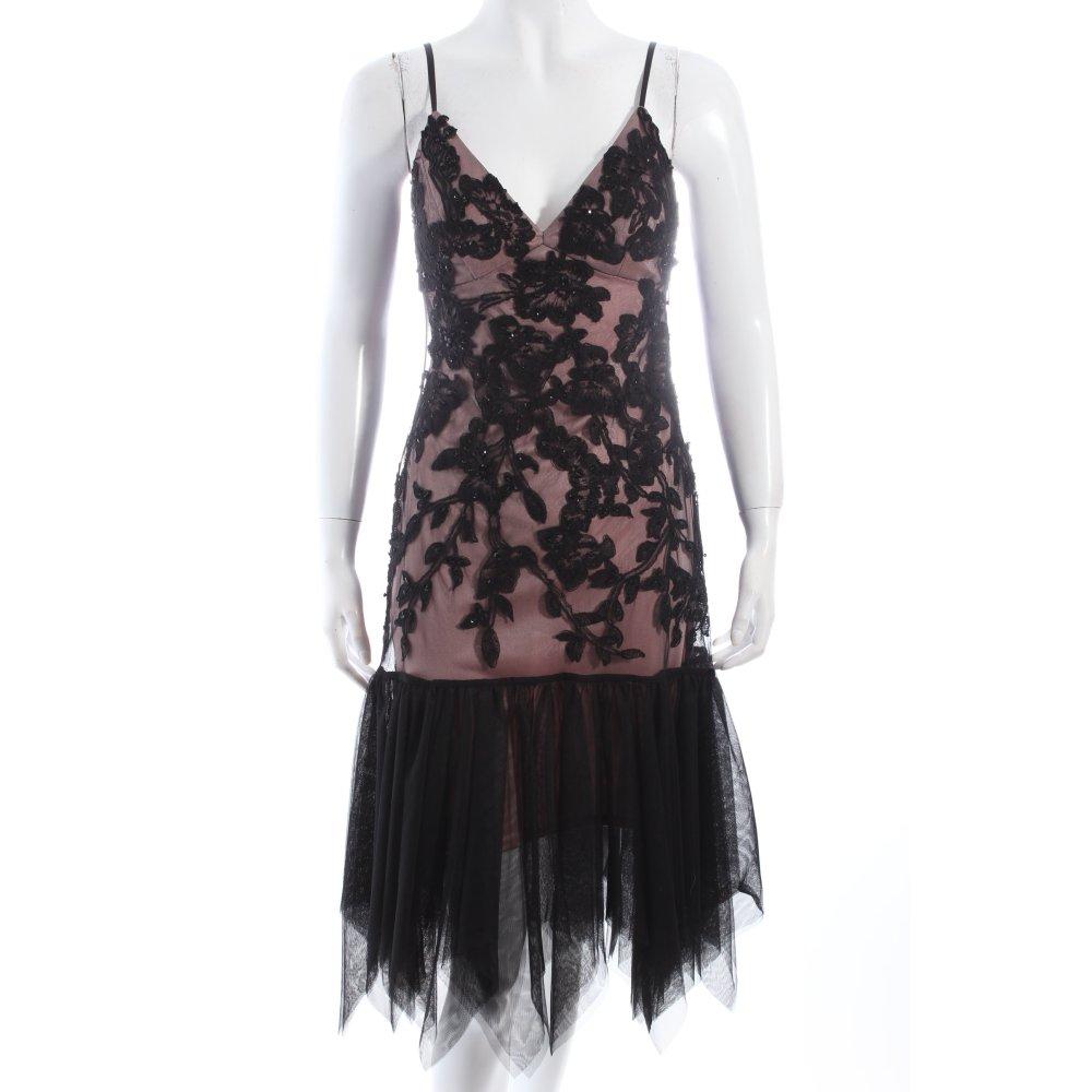 sue wong abendkleid altrosa schwarz eleganz look damen gr de 32 kleid dress ebay. Black Bedroom Furniture Sets. Home Design Ideas
