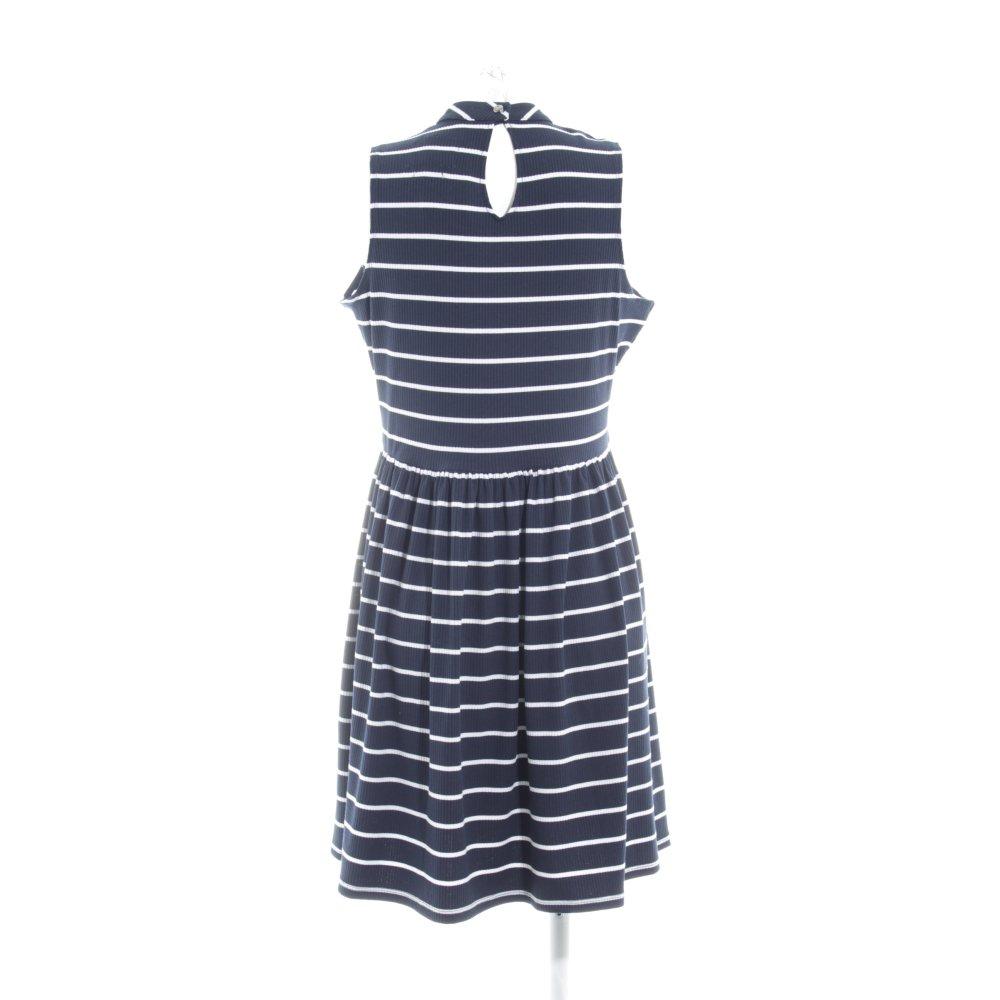 0ce6fcc1524 SUPERDRY Robe stretch bleu foncé-blanc motif rayé style marin T 42 bleu  foncé
