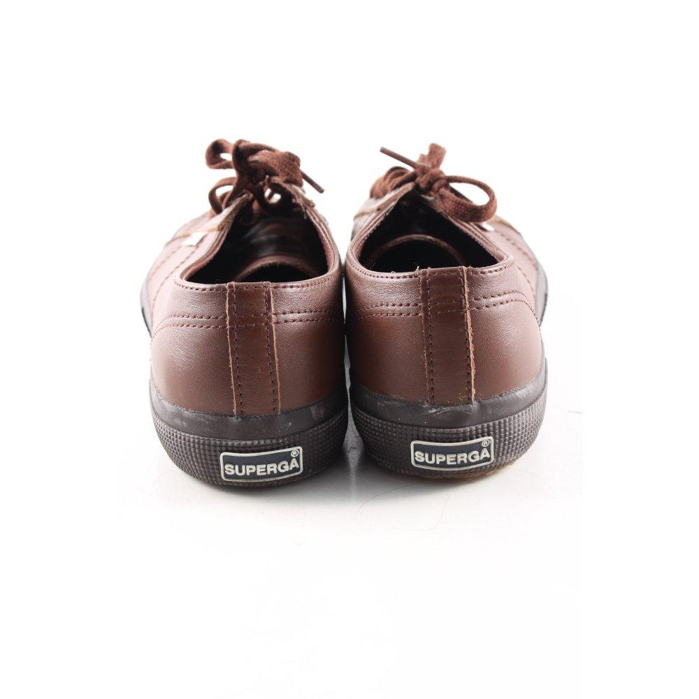 SUPERGA Sneaker stringata marrone stile atletico Donna