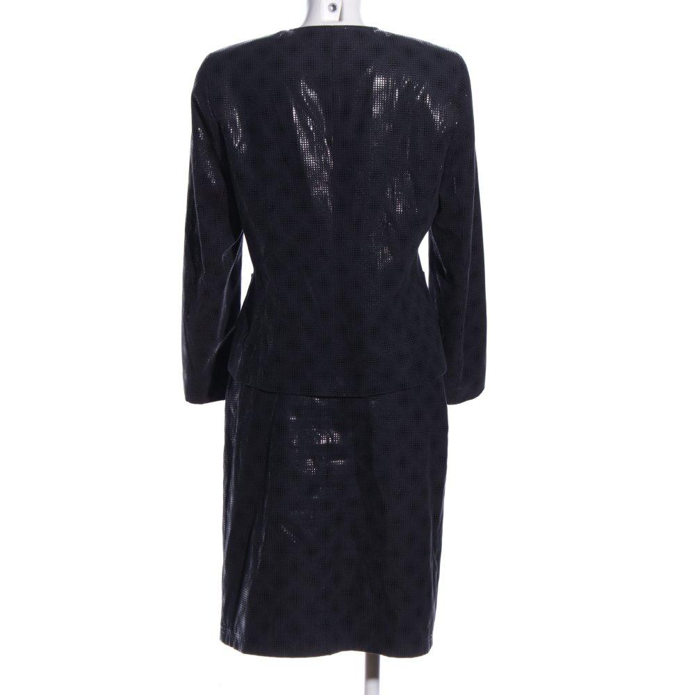 TAIFUN Kostüm schwarz abstraktes Muster Business-Look ...
