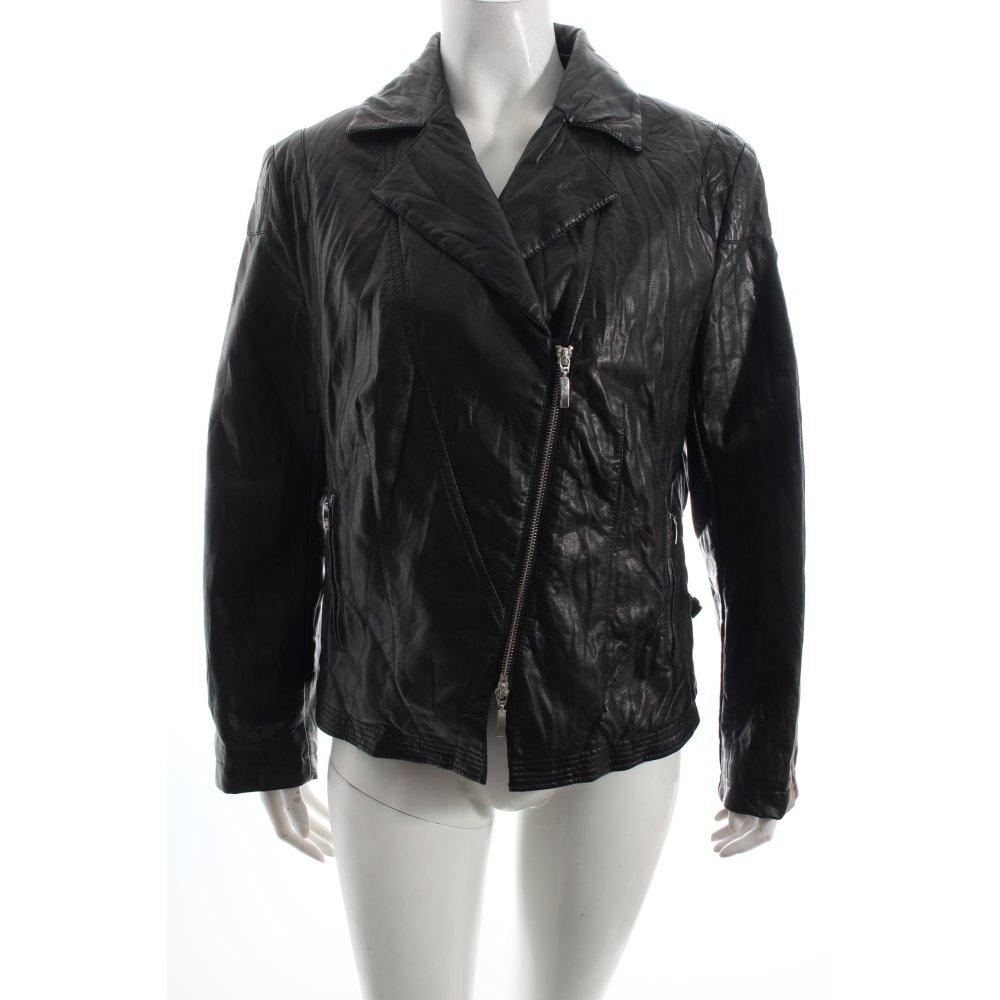 taifun kunstlederjacke schwarz leder optik damen gr de 42 jacke jacket ebay. Black Bedroom Furniture Sets. Home Design Ideas