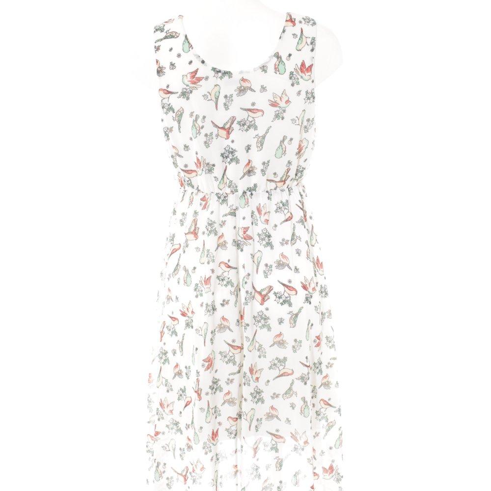 Détails sur TAMARIS Robe empire motif de fleur style romantique Dames T 40 blanc