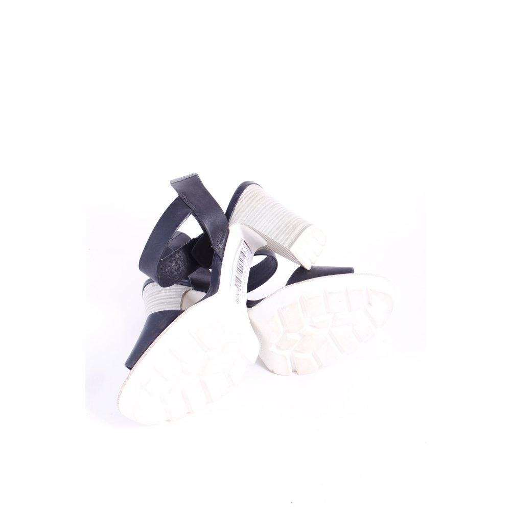tamaris high heel sandaletten schwarz wei. Black Bedroom Furniture Sets. Home Design Ideas