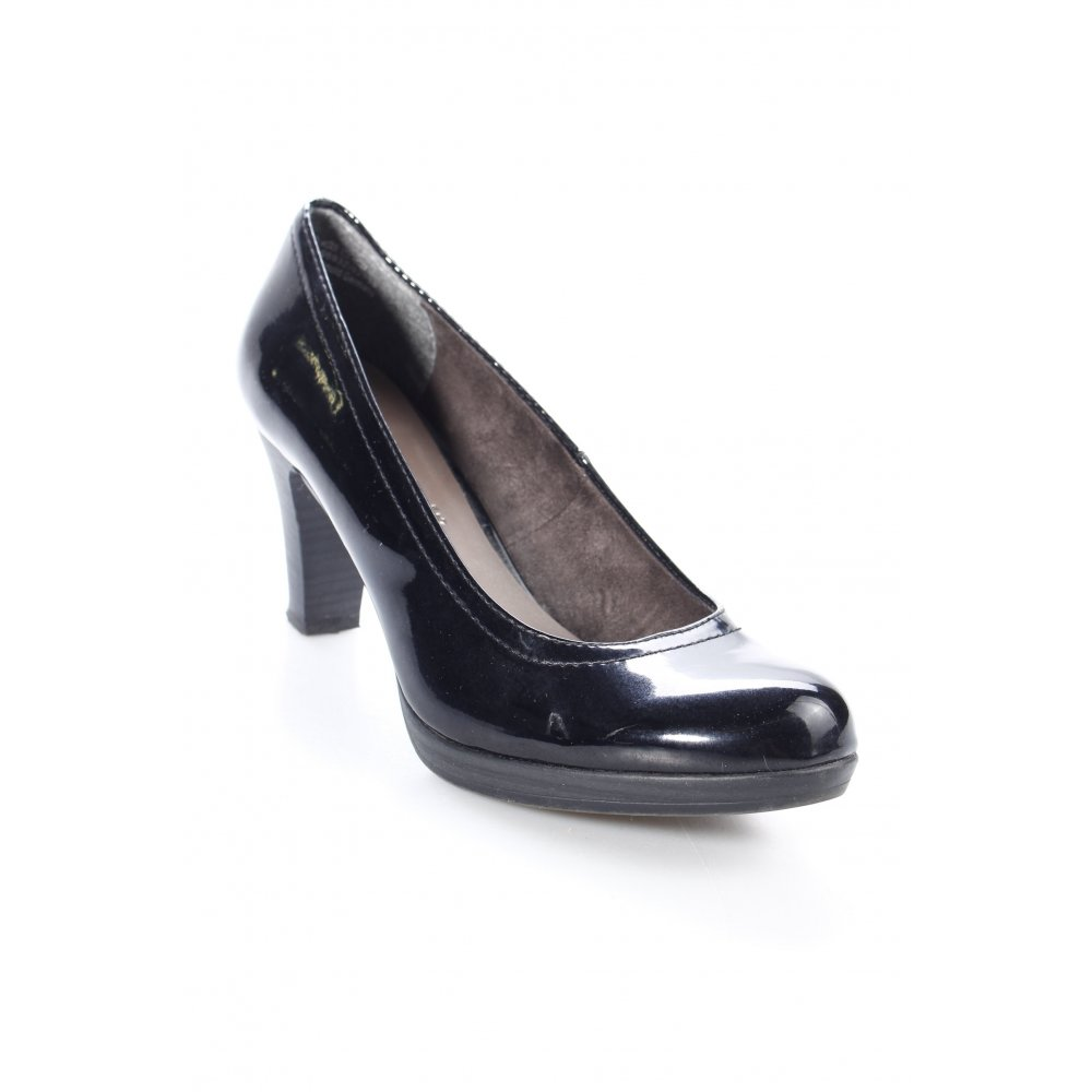 tamaris high heels schwarz lack optik damen gr de 39. Black Bedroom Furniture Sets. Home Design Ideas