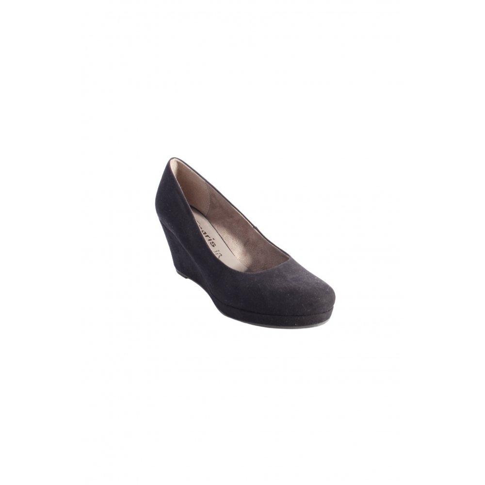 tamaris keil pumps schwarz damen gr de 38 wedge pumps damenschuhe ebay. Black Bedroom Furniture Sets. Home Design Ideas