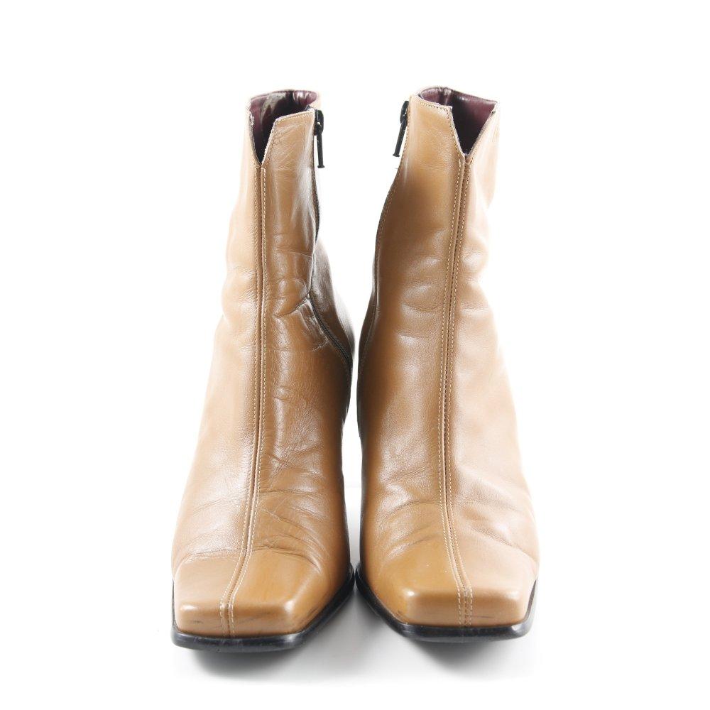 Détails sur TAMARIS Bottines à fermeture éclair marron clair style simple Dames T 40 cuir