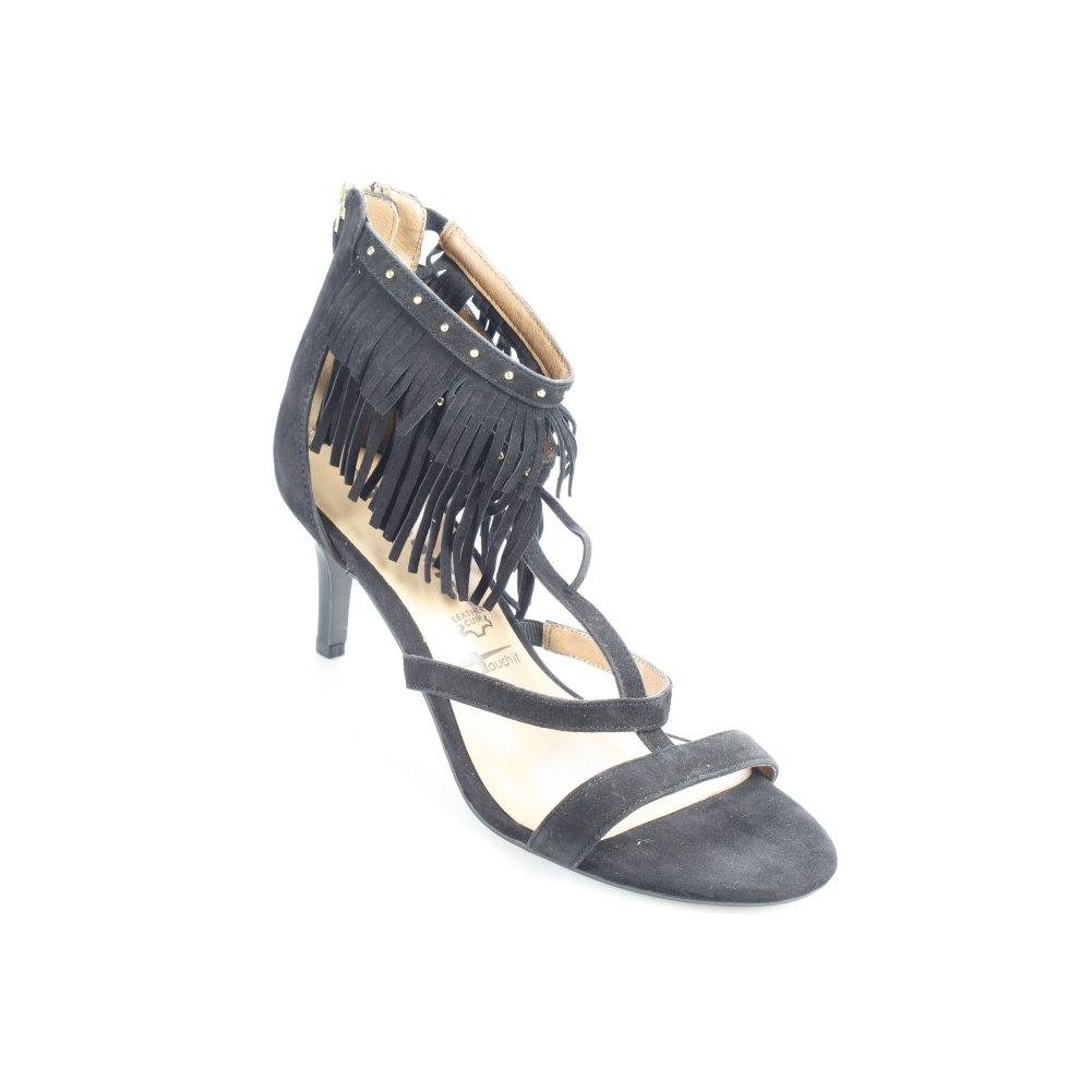 tamaris riemchen sandaletten schwarz party look damen gr de 39 damenschuhe ebay. Black Bedroom Furniture Sets. Home Design Ideas