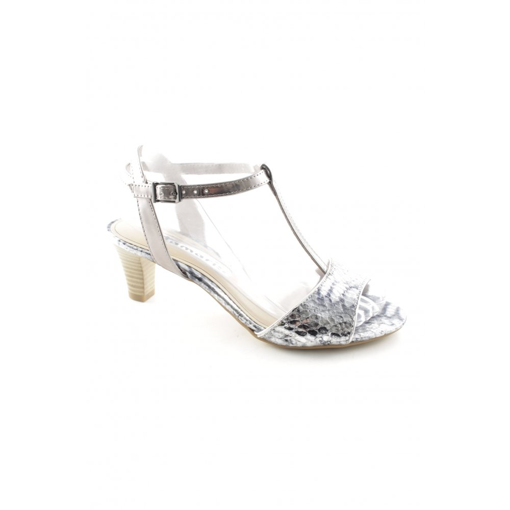 TAMARIS Sandalo con cinturino e tacco alto argentonero stile stravagante Donna