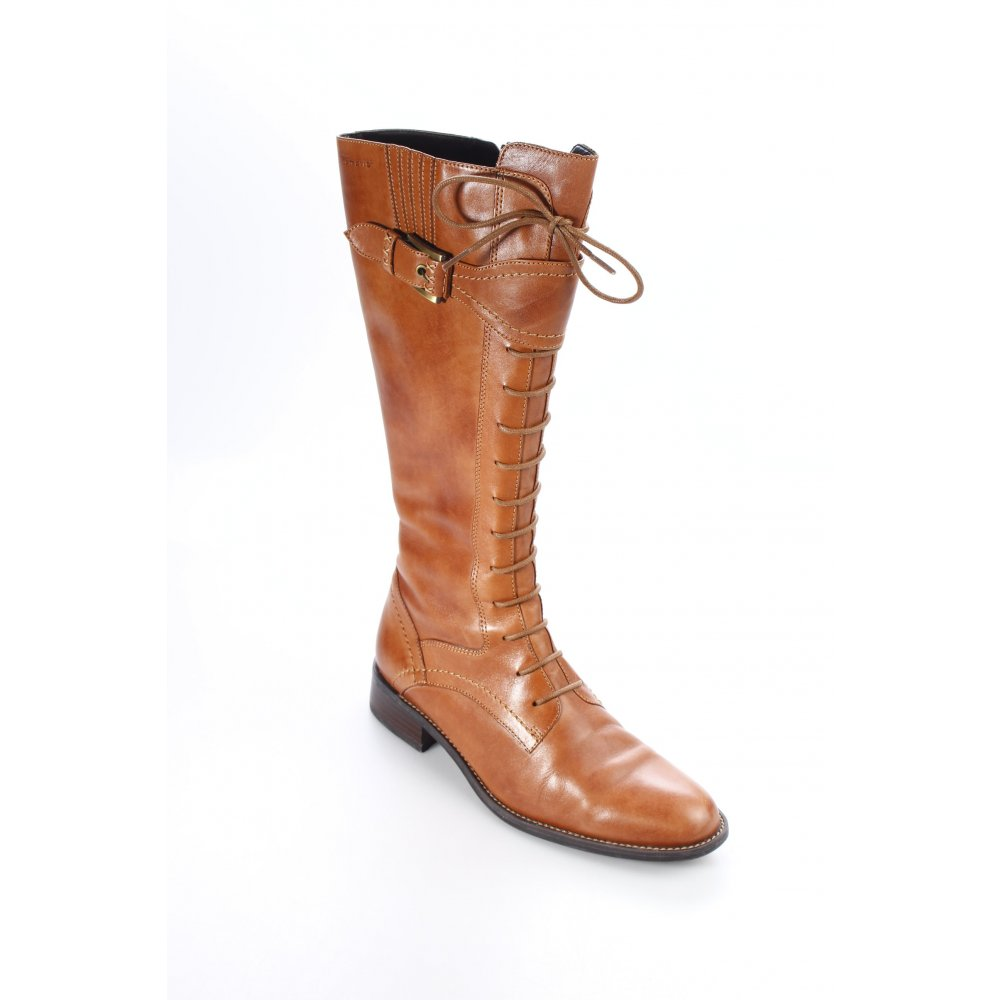 tamaris schaftstiefel cognac damen gr de 37 stiefel high boots jackboots ebay. Black Bedroom Furniture Sets. Home Design Ideas