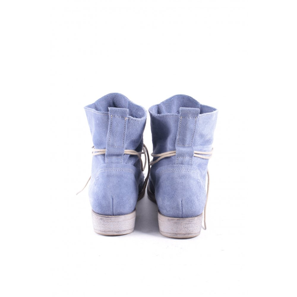 tamaris lace up booties pale blue casual look women s size uk 4 leather ebay. Black Bedroom Furniture Sets. Home Design Ideas