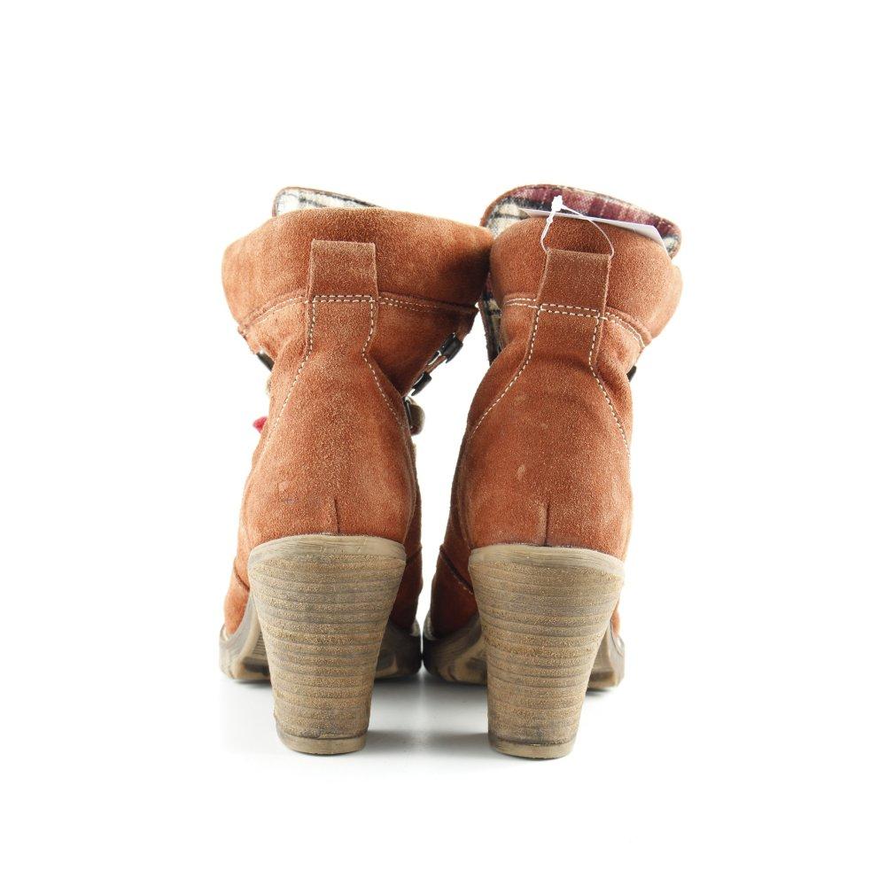 Détails sur TAMARIS Bottes à lacets multicolore style décontracté Dames T 36 orange foncé