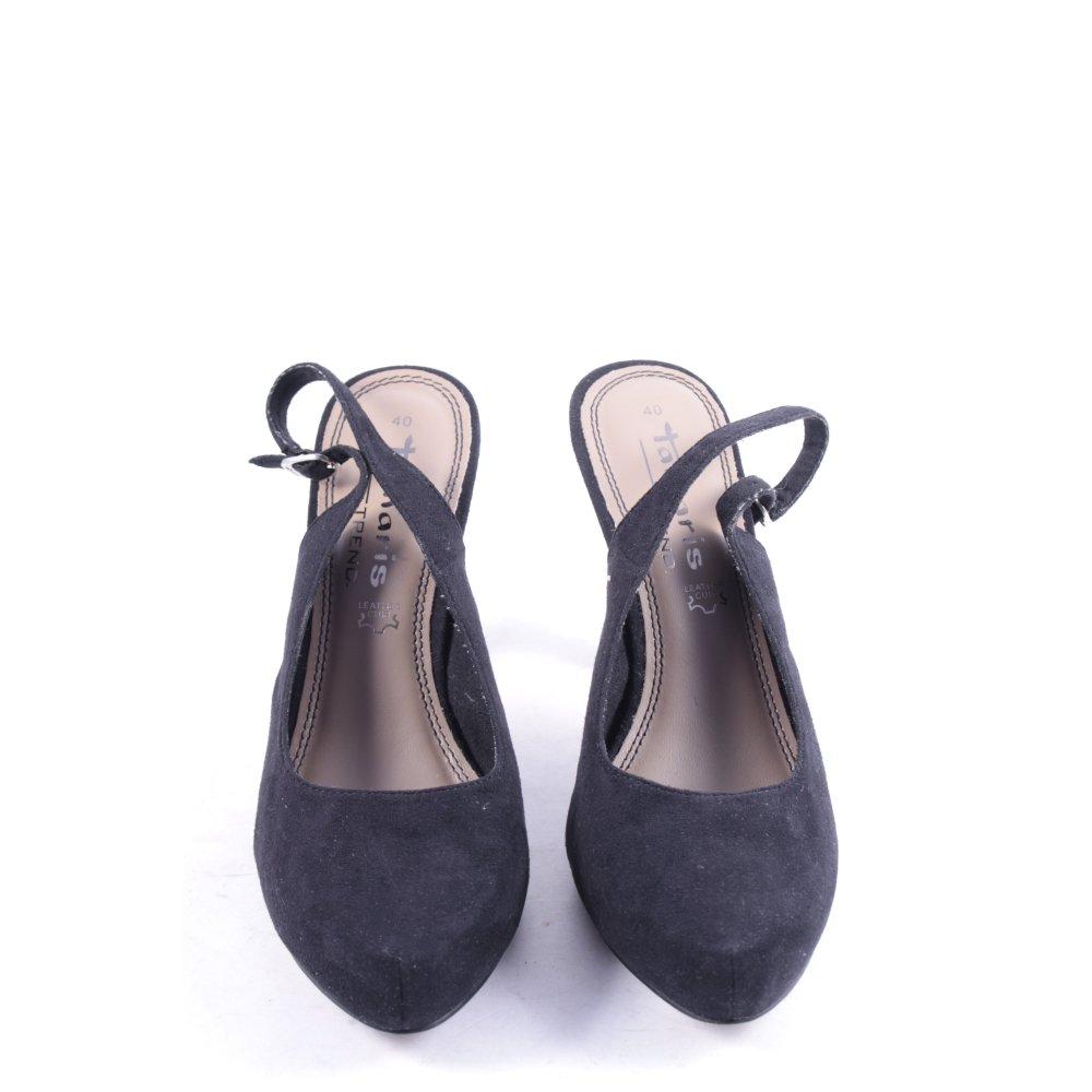 Tamaris slingback pumps schwarz klassischer stil damen gr for Klassischer stil