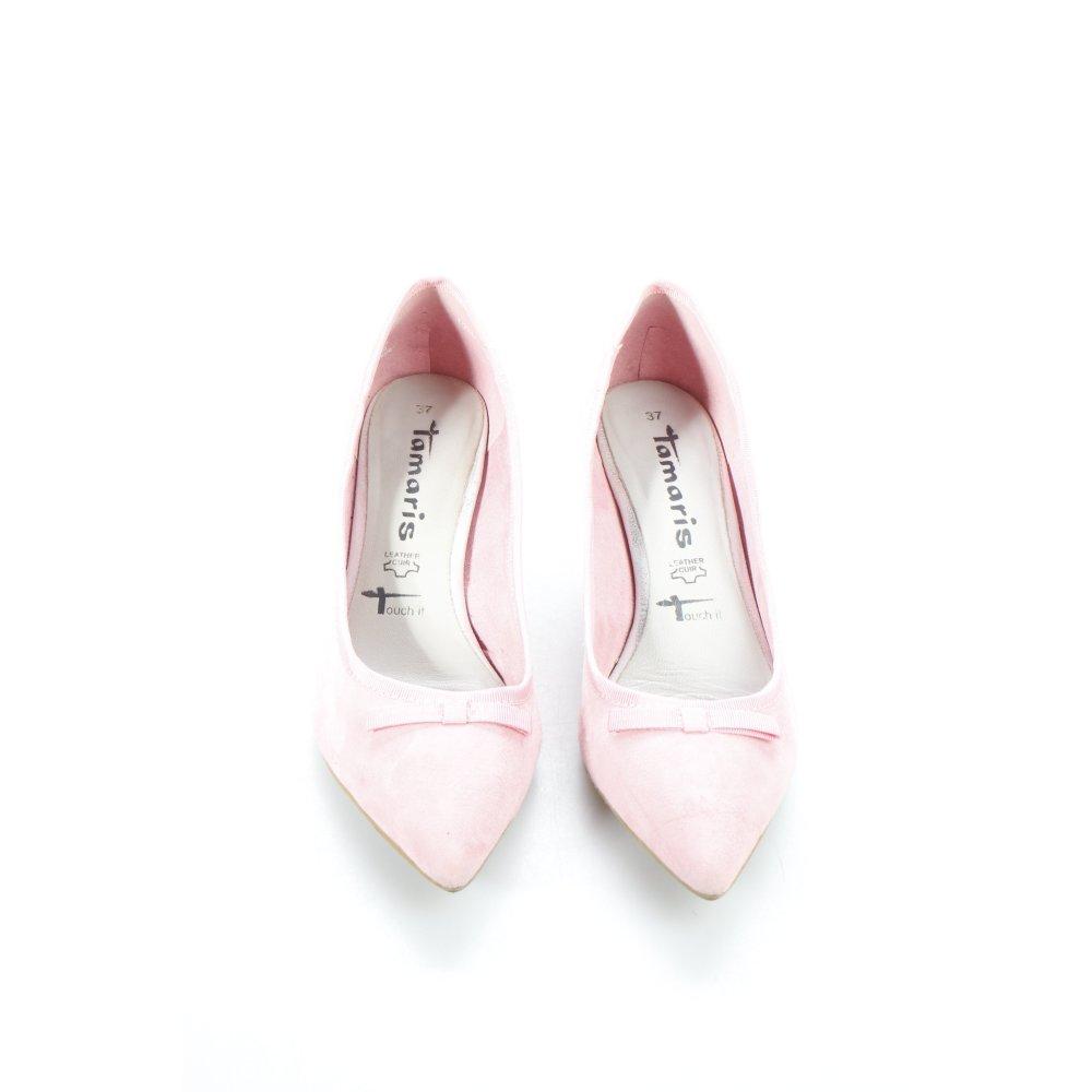tamaris spitz pumps rosa extravaganter stil damen gr de. Black Bedroom Furniture Sets. Home Design Ideas
