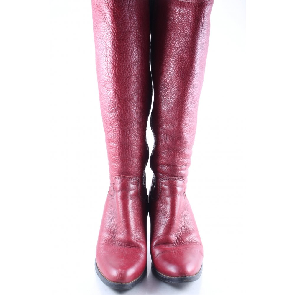 tamaris stiefel ziegelrot casual look damen gr de 37 schuhe shoes high boots ebay. Black Bedroom Furniture Sets. Home Design Ideas