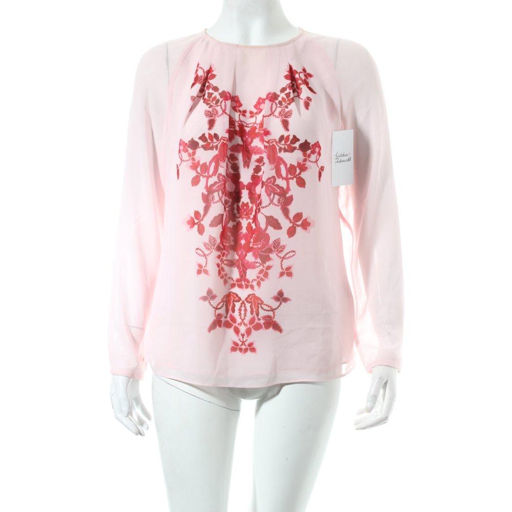 ted baker bluse hellrosa magenta florales muster transparenz optik damen blouse ebay. Black Bedroom Furniture Sets. Home Design Ideas