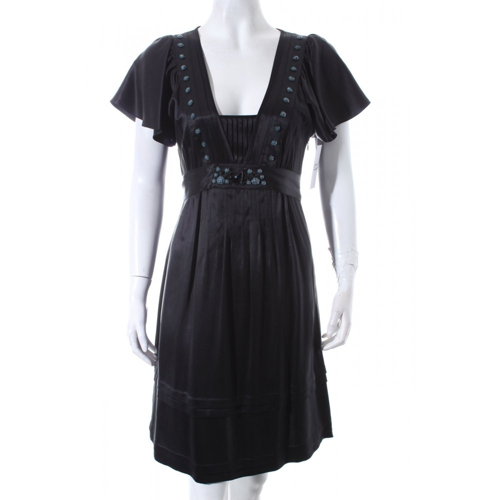ted baker kurzarmkleid schwarz elegant damen gr de 34 kleid dress seide ebay. Black Bedroom Furniture Sets. Home Design Ideas