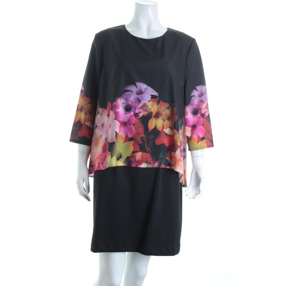 ted baker minikleid florales muster elegant damen gr de 38 schwarz kleid dress ebay. Black Bedroom Furniture Sets. Home Design Ideas