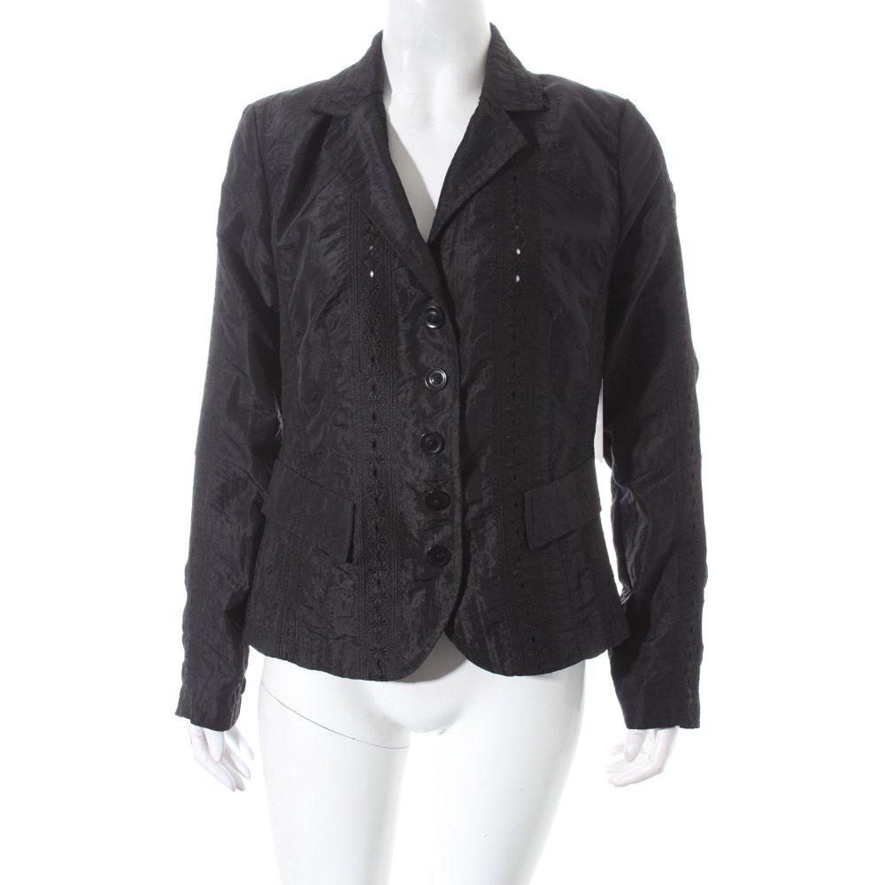 tendenza kurz blazer schwarz elegant damen gr de 38 short blazer ebay. Black Bedroom Furniture Sets. Home Design Ideas