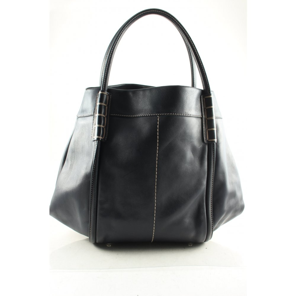 tod s handtasche dunkelblau street fashion look damen tasche bag handbag ebay. Black Bedroom Furniture Sets. Home Design Ideas