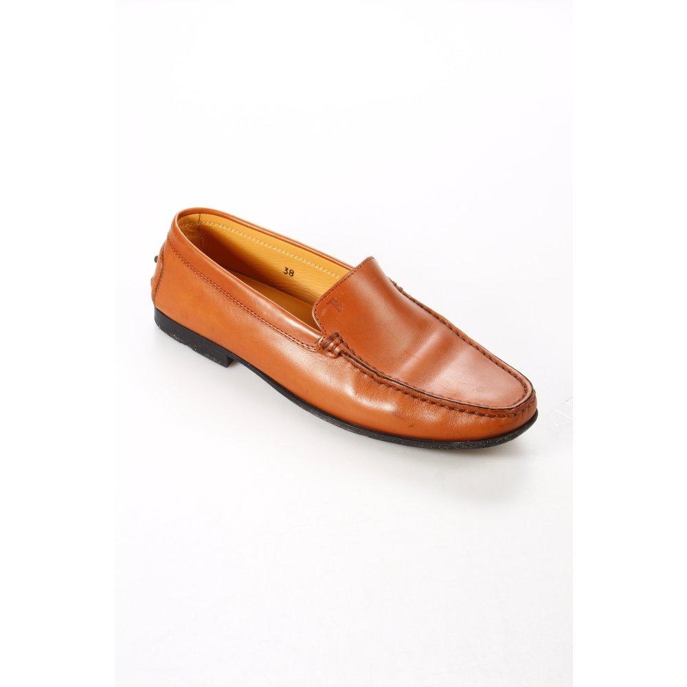 tod s mokassins braun casual look damen gr de 38 schuhe shoes leder moccasins ebay. Black Bedroom Furniture Sets. Home Design Ideas