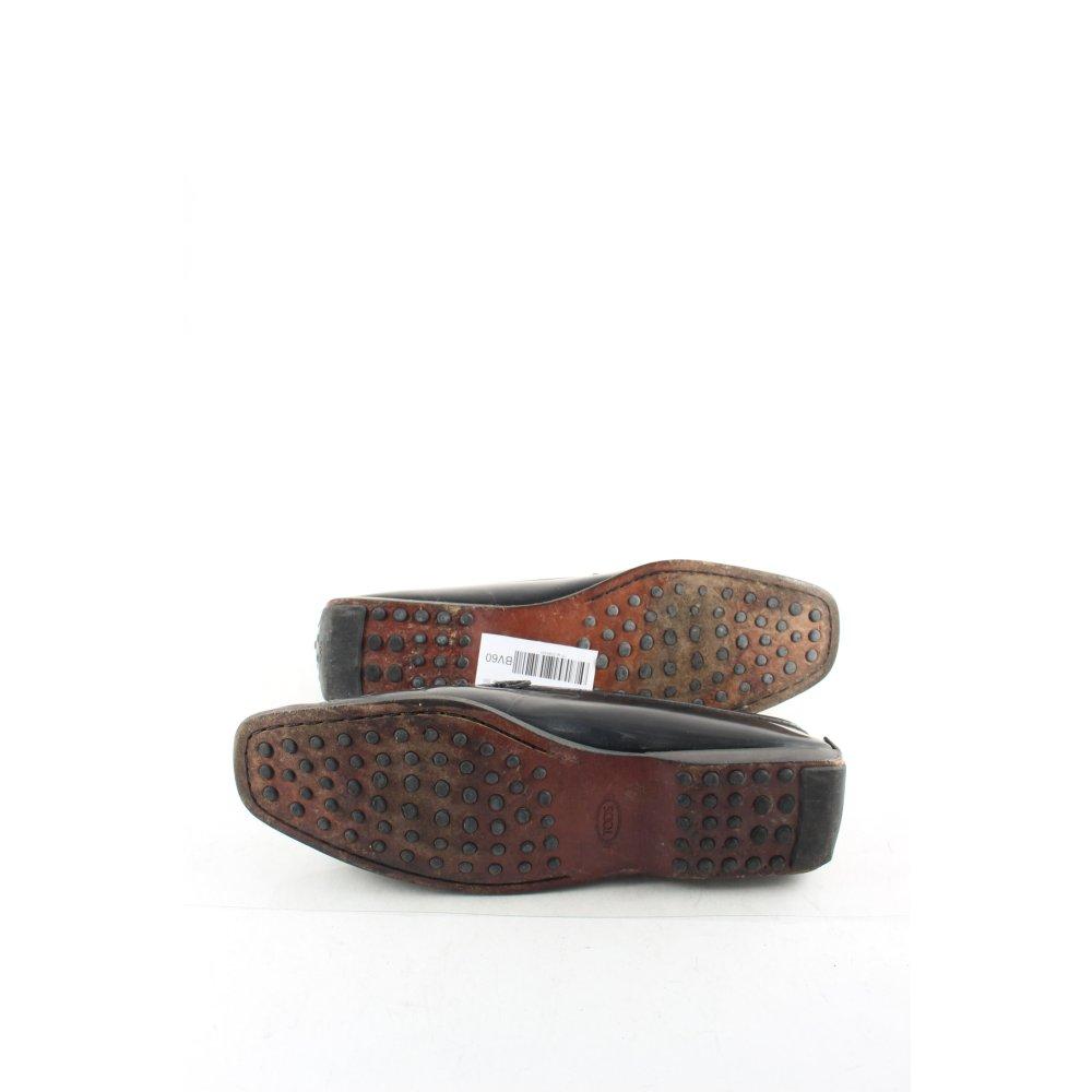 tod s mokassins schwarz klassischer stil damen gr de 40 5 schuhe shoes ebay. Black Bedroom Furniture Sets. Home Design Ideas