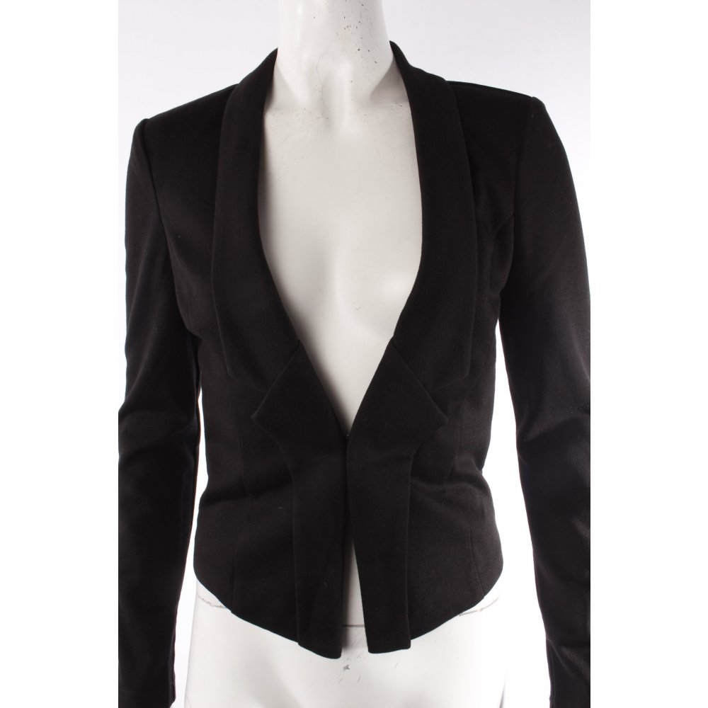 tom tailor kurz blazer schwarz damen gr de 34 short blazer ebay. Black Bedroom Furniture Sets. Home Design Ideas