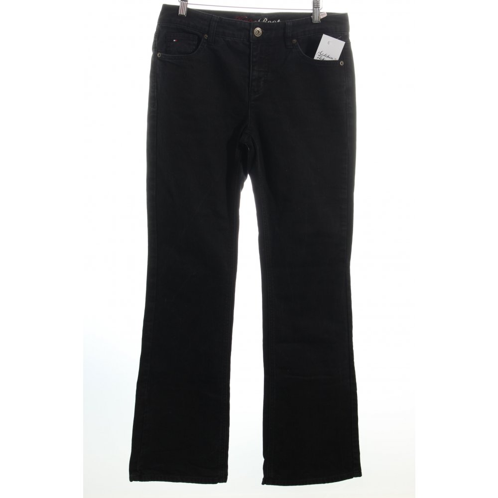 tommy hilfiger boot cut jeans black casual look women s size uk 12. Black Bedroom Furniture Sets. Home Design Ideas