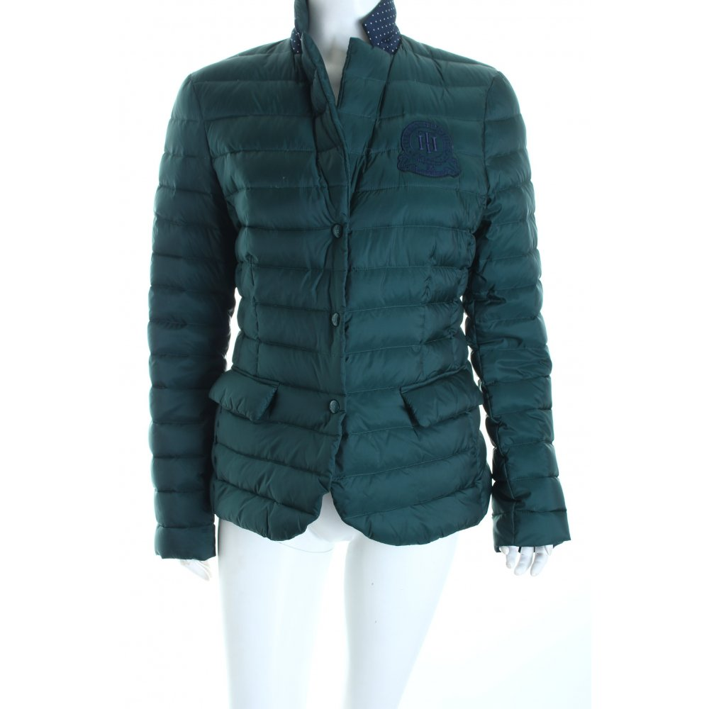tommy hilfiger down jacket forest green dark blue classic style women s ebay. Black Bedroom Furniture Sets. Home Design Ideas