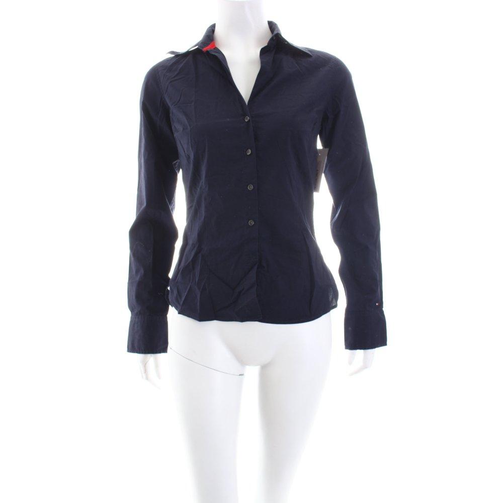 tommy hilfiger shirt blouse dark blue casual look women s size uk 6 cotton ebay. Black Bedroom Furniture Sets. Home Design Ideas