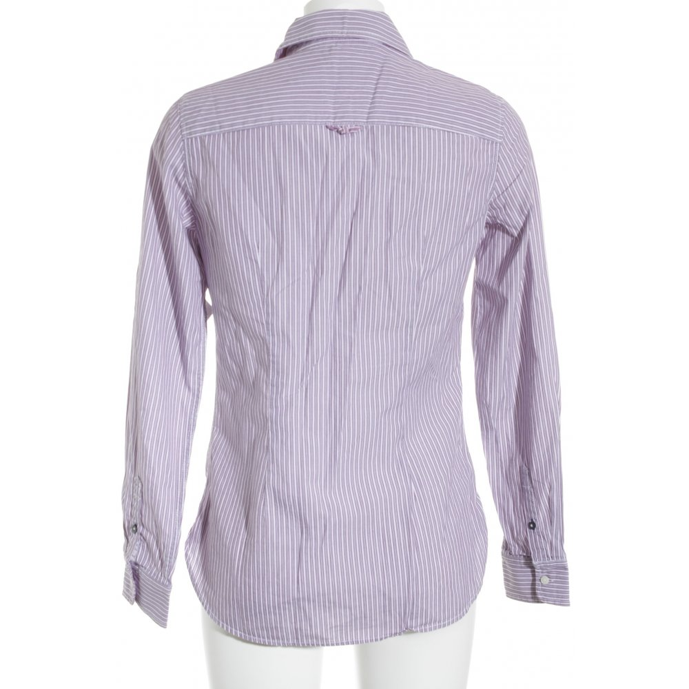 tommy hilfiger shirt blouse white violet striped pattern. Black Bedroom Furniture Sets. Home Design Ideas