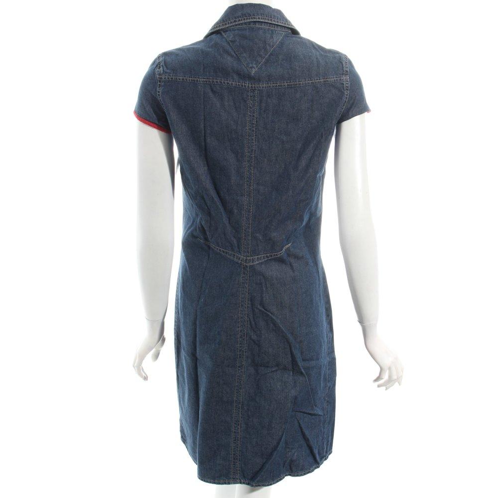 tommy hilfiger jeanskleid dunkelblau casual look damen gr de 36 kleid dress ebay. Black Bedroom Furniture Sets. Home Design Ideas