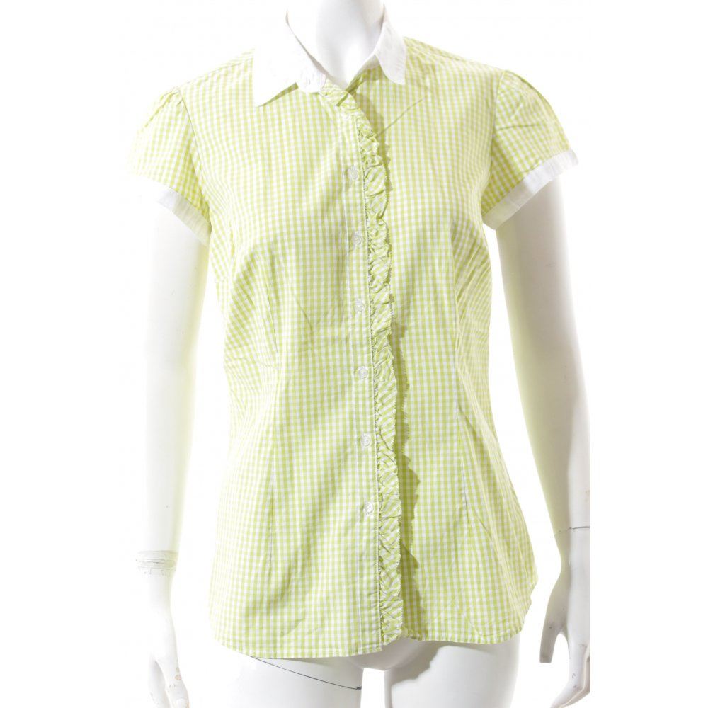 Dettagli su TOMMY HILFIGER Camicia a maniche corte bianco verde motivo a quadri stile casual