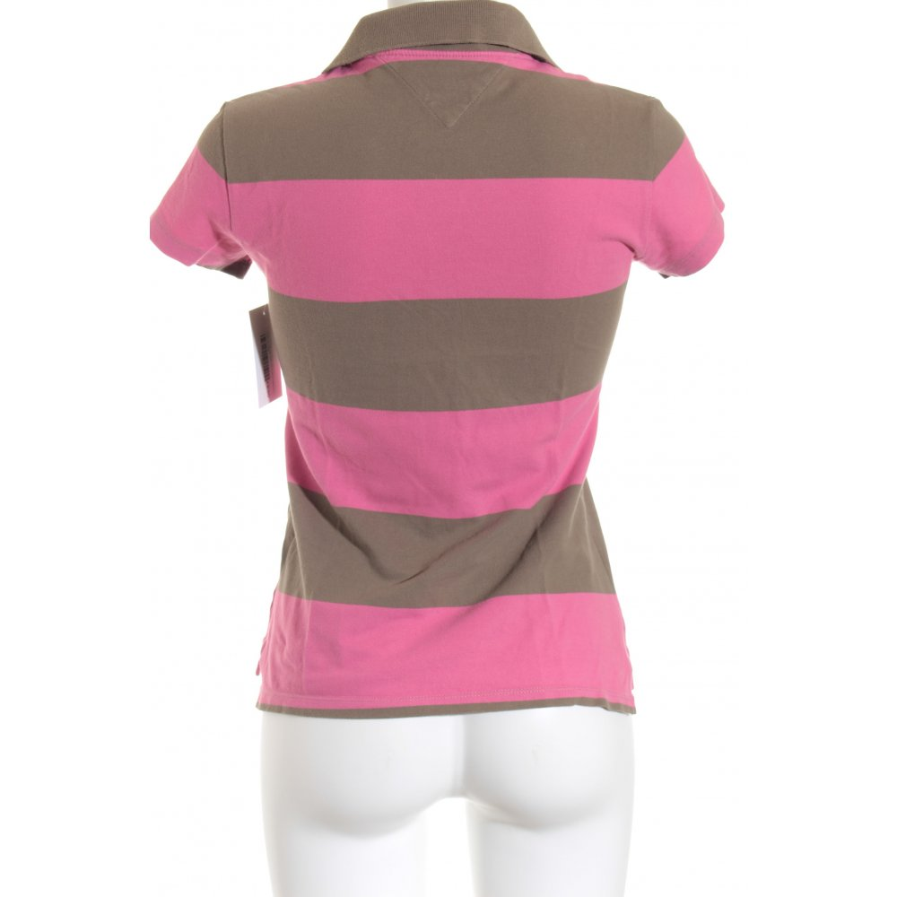 tommy hilfiger polo shirt pink hellbraun casual look damen. Black Bedroom Furniture Sets. Home Design Ideas