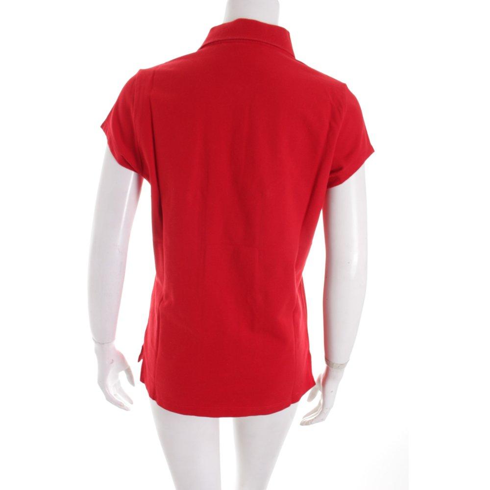 tommy hilfiger polo shirt rot casual look damen gr de 42. Black Bedroom Furniture Sets. Home Design Ideas