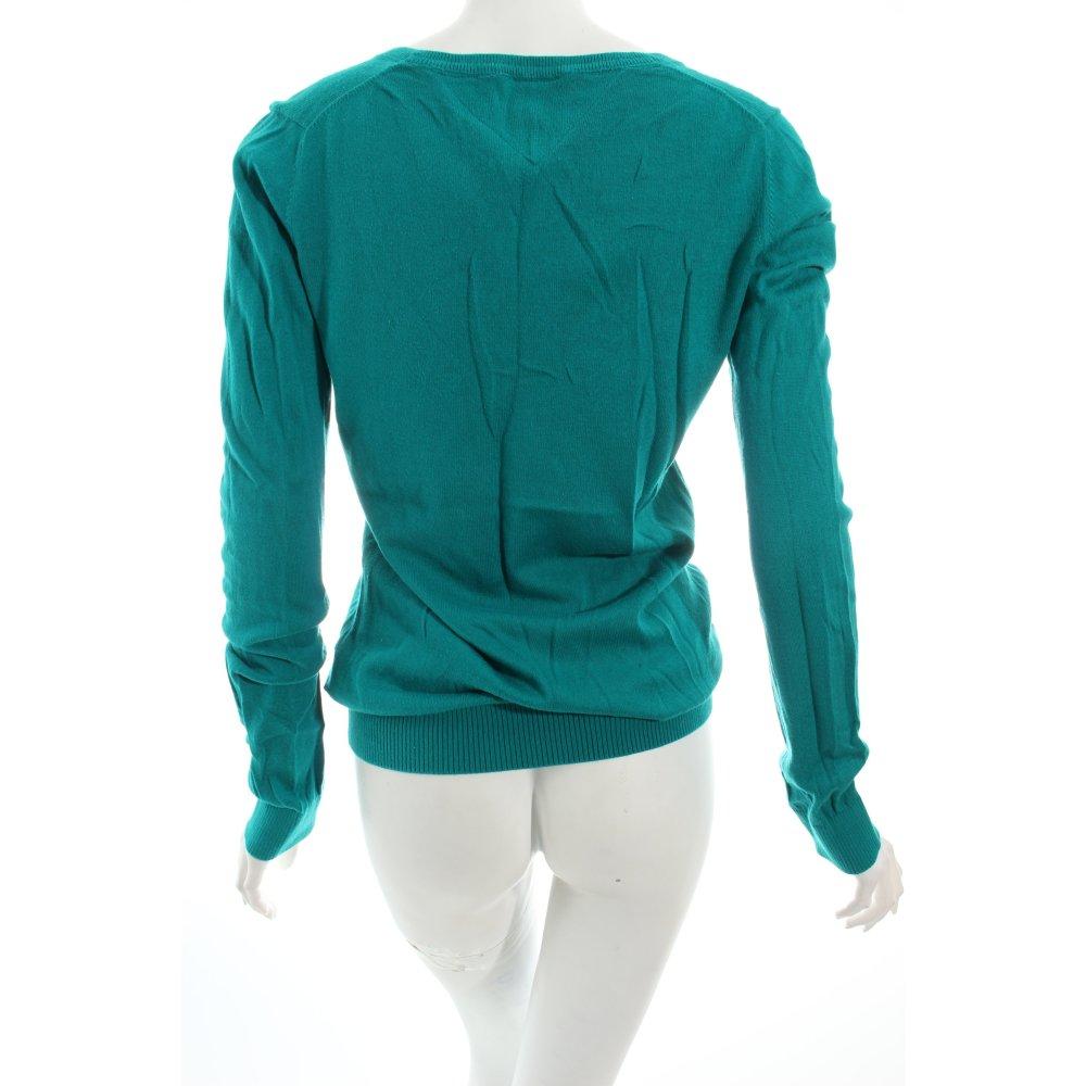 Tommy hilfiger v ausschnitt pullover t rkis klassischer for Klassischer stil