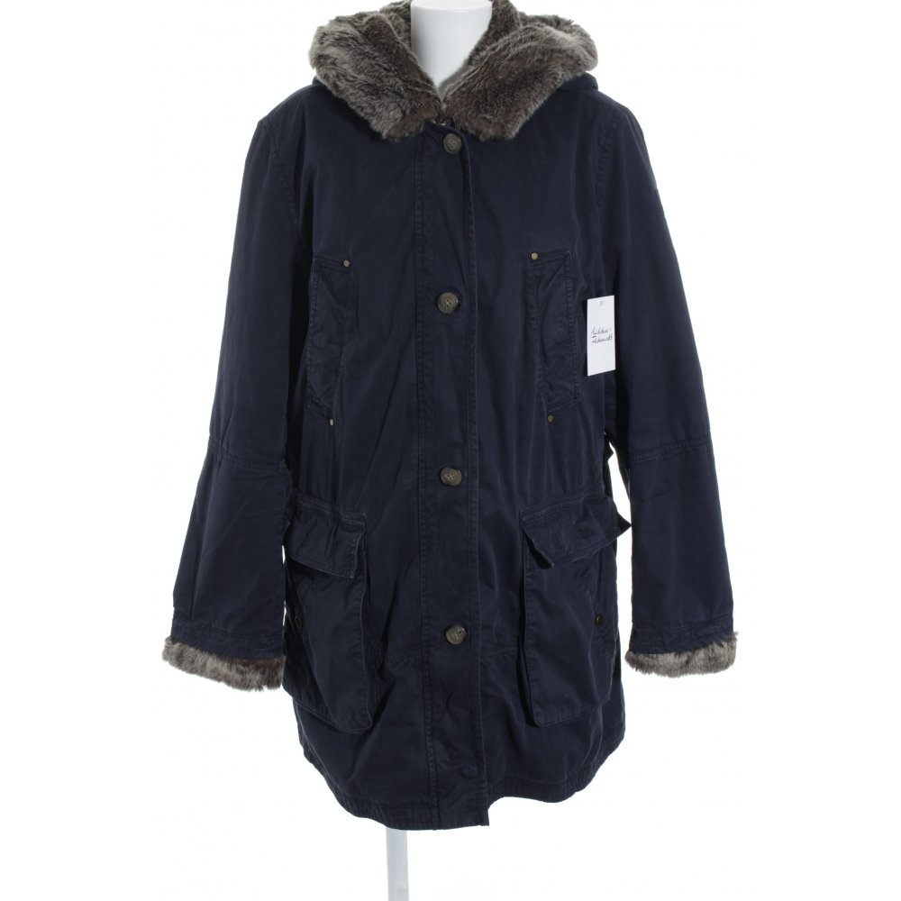 tommy hilfiger wintermantel dunkelblau casual look damen gr de 44 mantel coat ebay. Black Bedroom Furniture Sets. Home Design Ideas