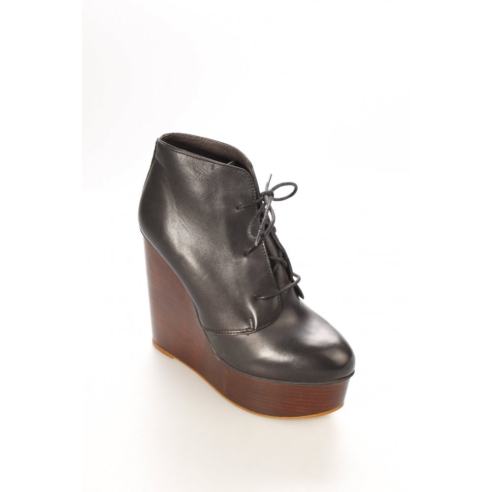 topshop ankle boots schwarz damen gr de 39 leder damenschuhe. Black Bedroom Furniture Sets. Home Design Ideas