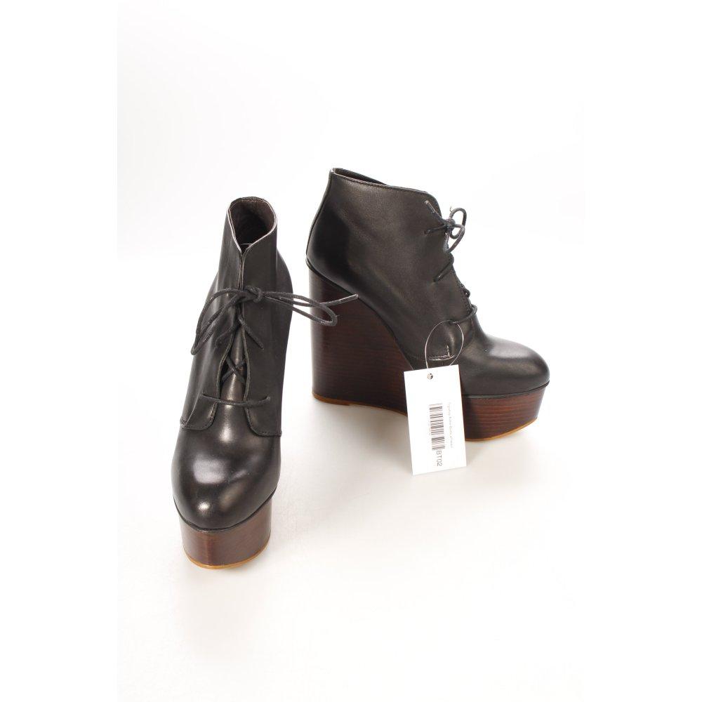 topshop ankle boots schwarz damen gr de 39 leder damenschuhe. Black Bedroom Furniture Sets. Home Design Ideas