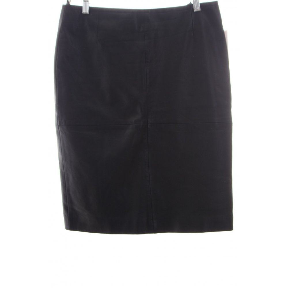 topshop leather skirt black look s size uk 10 ebay
