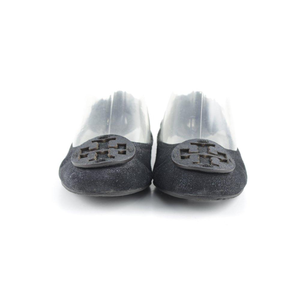 tory burch ballerinas mit spitze schwarz antik look damen gr de 39 damenschuhe ebay. Black Bedroom Furniture Sets. Home Design Ideas