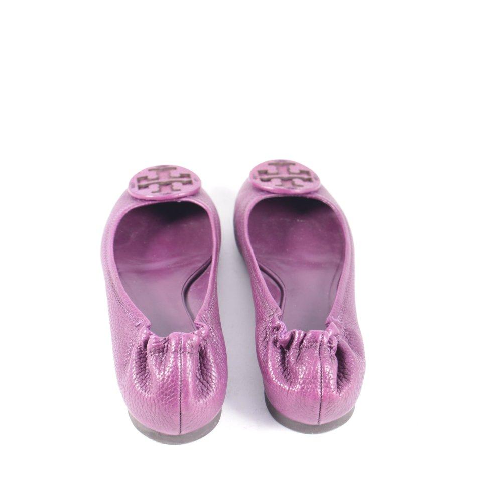 tory burch ballerinas purpur klassischer stil damen gr de 39 schuhe shoes leder ebay. Black Bedroom Furniture Sets. Home Design Ideas