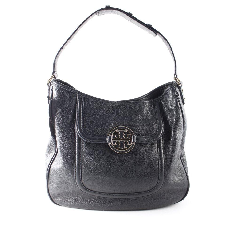tory burch handtasche amanda schwarz damen tasche bag leder handbag ebay. Black Bedroom Furniture Sets. Home Design Ideas