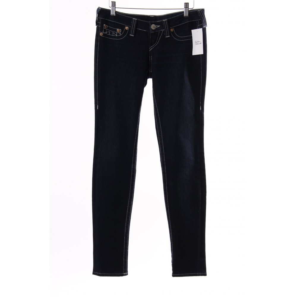 true religion jeans dunkelblau damen gr de 36 skinny jeans ebay. Black Bedroom Furniture Sets. Home Design Ideas