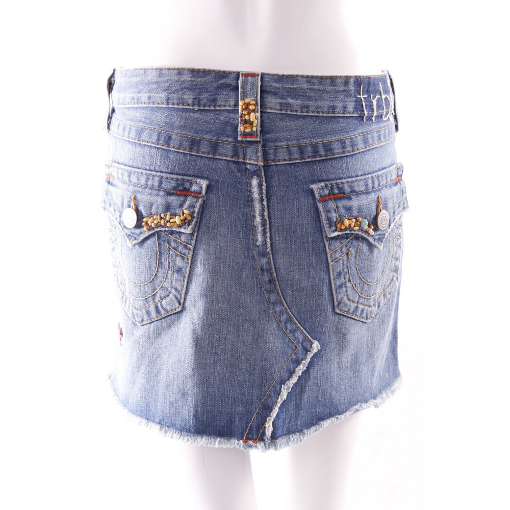 true religion denim skirt with women s size uk 8